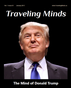 Cover of the January issue of Traveling Minds magazine, to be out on January 2nd, 2017.